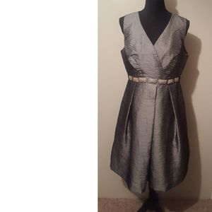 Madison Silvery Gray Cocktail Dress